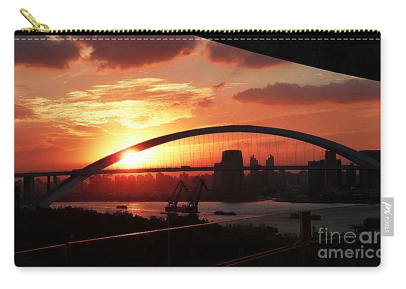 2010 Expo Carry-all Pouch featuring the photograph Shanghai City 12 by Xueling Zou