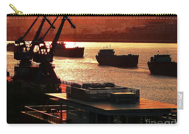 Photograph Carry-all Pouch featuring the photograph Shanghai City 14 by Xueling Zou
