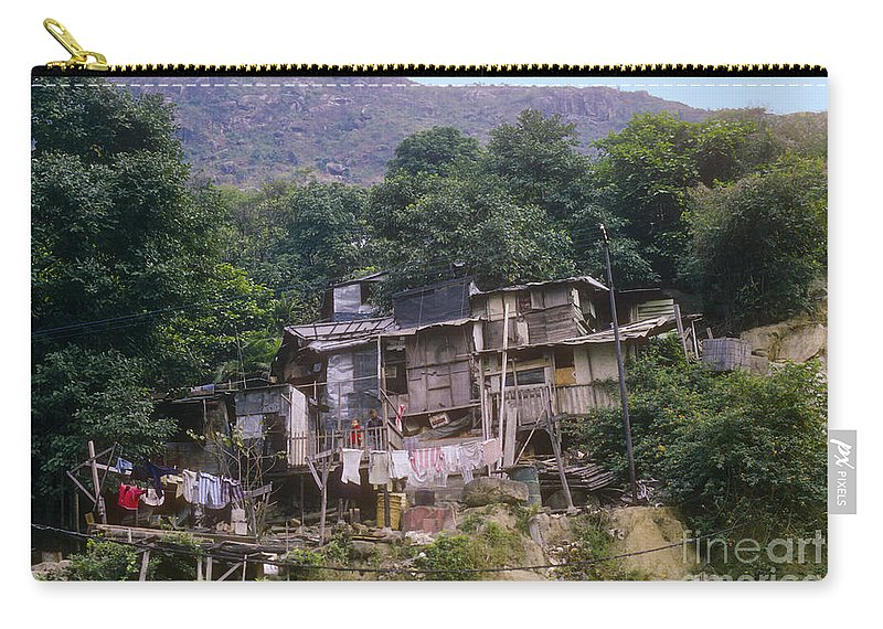 Malaysia Shanty Shanties Shack Shacks Home Homes House Houses Laundry Carry-all Pouch featuring the photograph Shanty by Bob Phillips