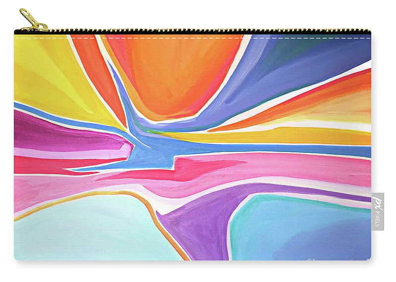 Original Carry-all Pouch featuring the painting Shape Shifter by Priscilla Batzell Expressionist Art Studio Gallery