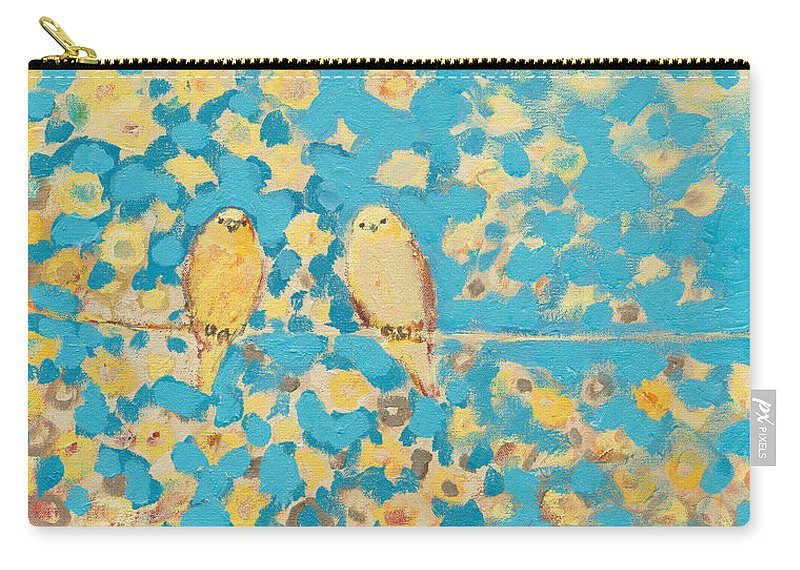 Impressionist Carry-all Pouch featuring the painting Sharing A Sunny Perch by Jennifer Lommers