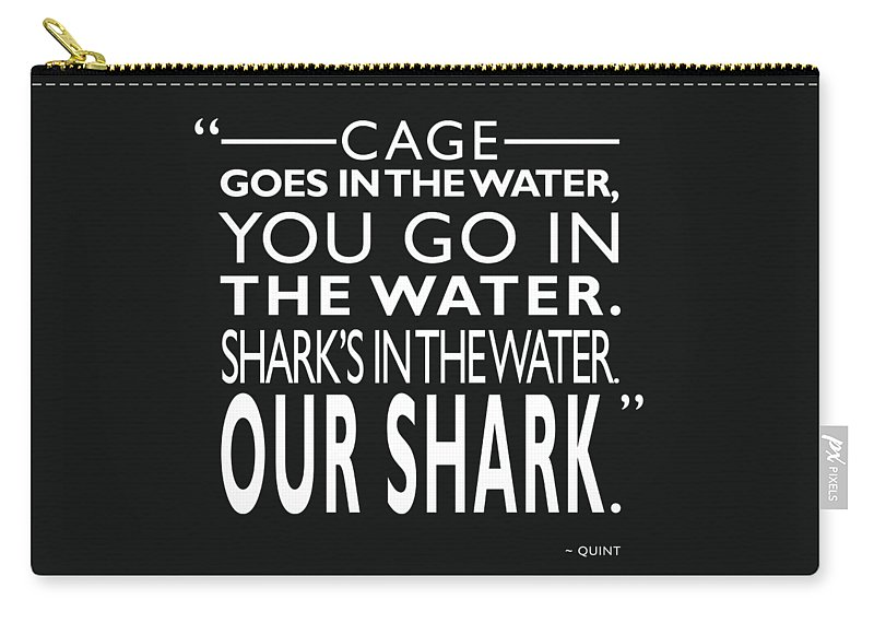 Jaws Carry-all Pouch featuring the photograph Sharks In The Water by Mark Rogan