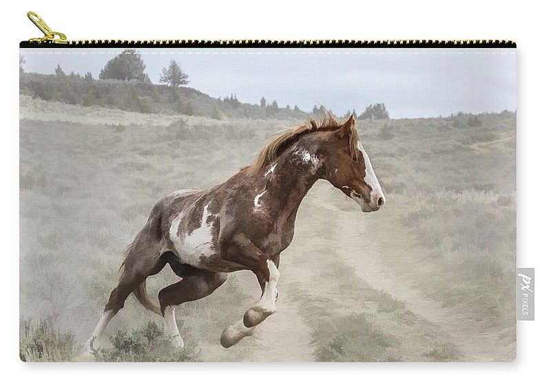 Sharp Turn Carry-all Pouch featuring the photograph Sharp Turn by Wes and Dotty Weber