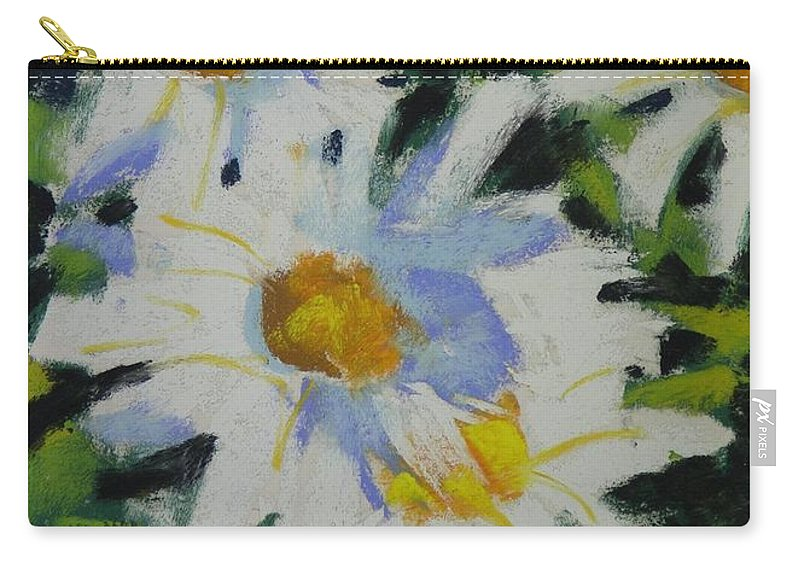 Pastels Carry-all Pouch featuring the painting Shastas by Mary McInnis