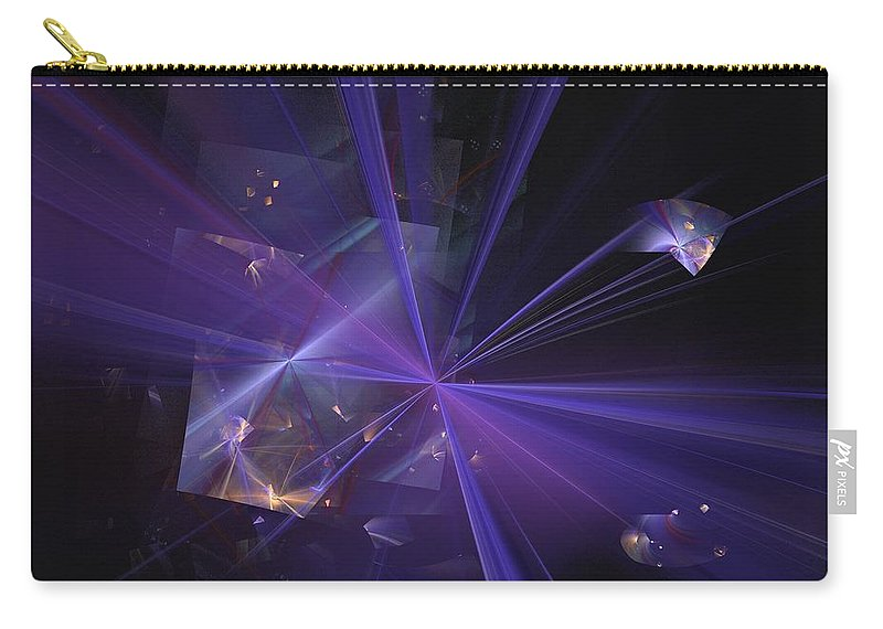 Abstract Digital Painting Carry-all Pouch featuring the digital art Shattered by David Lane