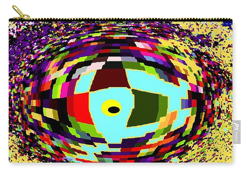Abstract Carry-all Pouch featuring the digital art Shattered by Ian MacDonald