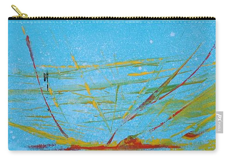 Diamond Carry-all Pouch featuring the painting Shattered by Jack Diamond