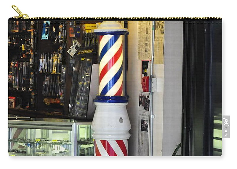 Clay Carry-all Pouch featuring the photograph Shave And A Haircut by Clayton Bruster