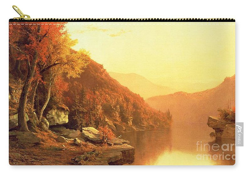 Shawanagunk Mountains Carry-all Pouch featuring the painting Shawanagunk Mountains by Jervis McEntee