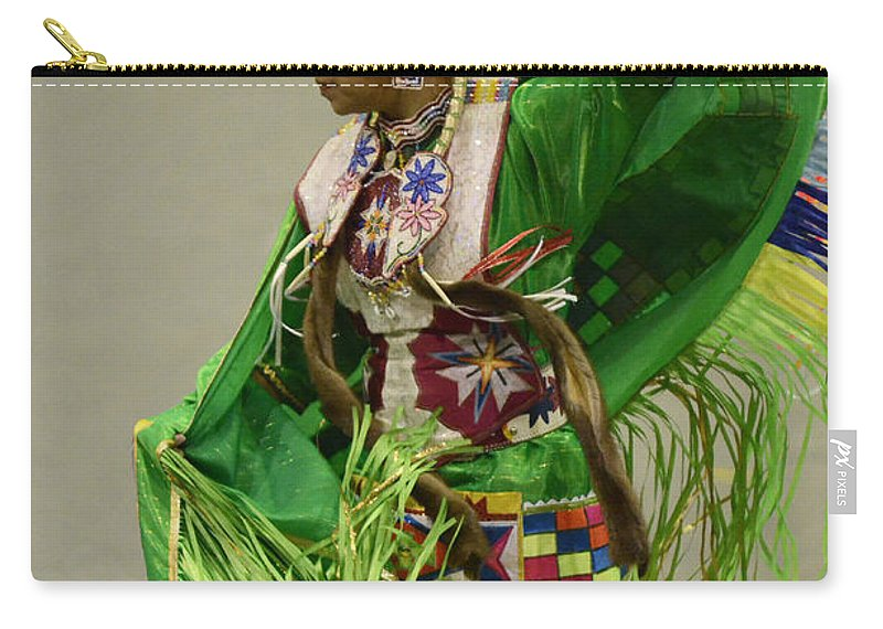 Pow Wow Carry-all Pouch featuring the photograph Pow Wow Shawl Dancer 3 by Bob Christopher