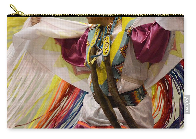Pow Wow Carry-all Pouch featuring the photograph Pow Wow Shawl Dancer 4 by Bob Christopher