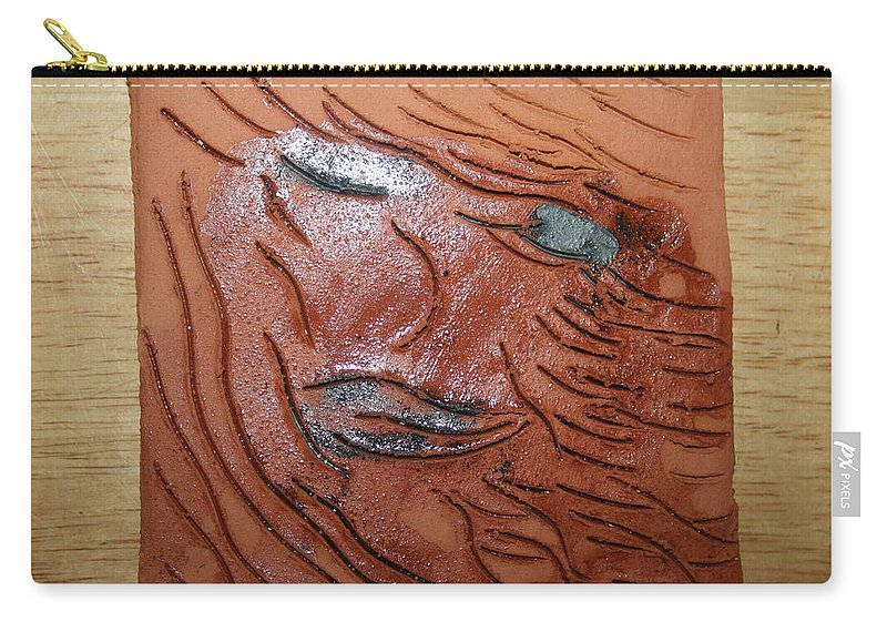 Jesus Carry-all Pouch featuring the ceramic art She - Tile by Gloria Ssali