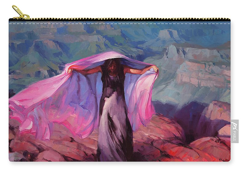 Dancer Carry-all Pouch featuring the painting She Danced By The Light Of The Moon by Steve Henderson