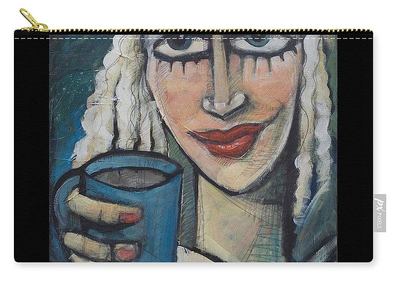 Coffee Carry-all Pouch featuring the painting She Had Some Dreams... Poster by Tim Nyberg