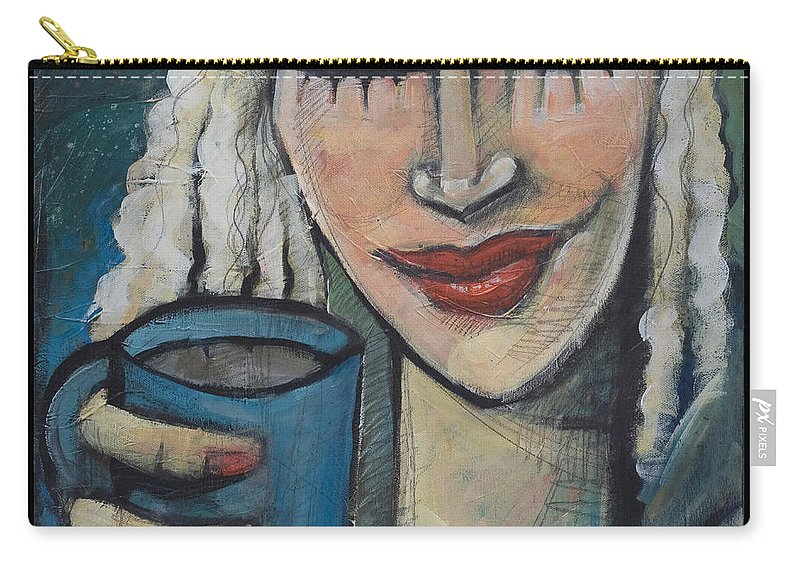 Pleasant Carry-all Pouch featuring the painting She Had Some Dreams... by Tim Nyberg