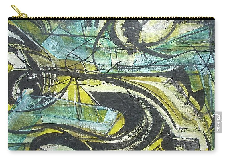 Beautiful Carry-all Pouch featuring the painting She Moves Me Vol1 by Hasaan Kirkland