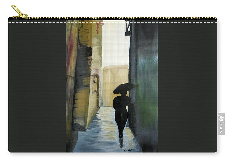 Woman Walking Carry-all Pouch featuring the painting She Walks by Kim Rahal