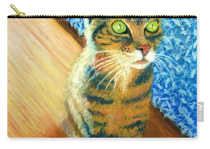 Cat Carry-all Pouch featuring the painting She Wants To Be Famous by Minaz Jantz