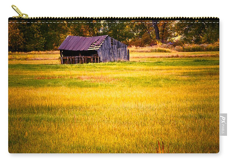Shed Carry-all Pouch featuring the photograph Shed in Sunlight by Marilyn Hunt