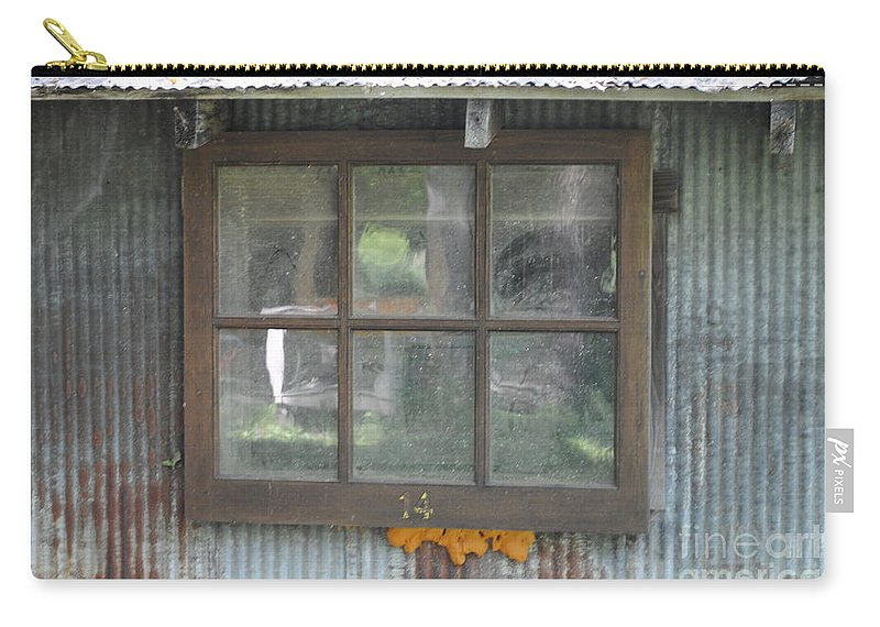 Country Carry-all Pouch featuring the photograph Shed Window by Jost Houk