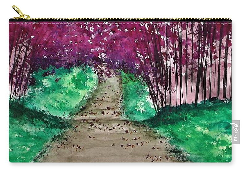 Landscape Carry-all Pouch featuring the painting Shedding Sorrows Along The Way by Lisa Aerts