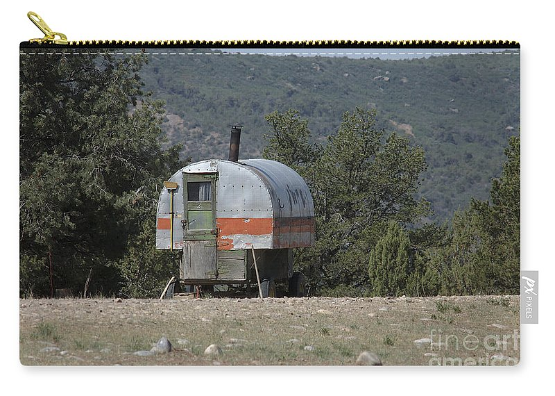 Sheep Carry-all Pouch featuring the photograph Sheep Herder's Wagon by Jerry McElroy
