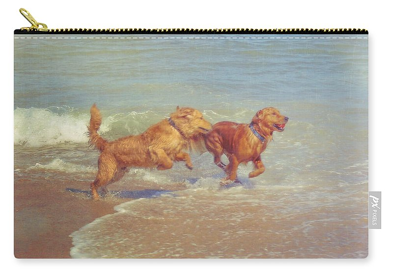 Dog Carry-all Pouch featuring the photograph Sheer Joy by JAMART Photography