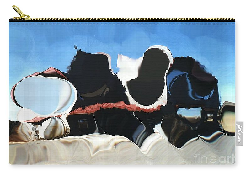 Digital Art Carry-all Pouch featuring the digital art Sheet Theory Meets Black Hole by Ron Bissett
