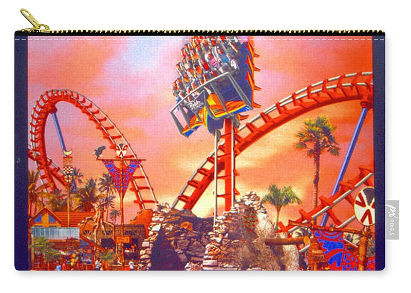Sheikra Ride Poster Carry-all Pouch featuring the photograph Sheikra Ride Poster 3 by David Lee Thompson