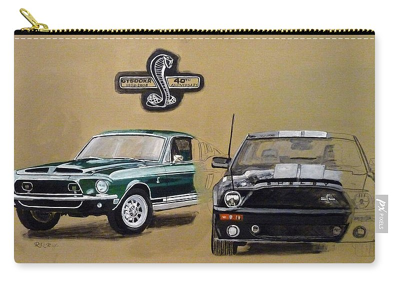 Cars Carry-all Pouch featuring the painting Shelby 40th Anniversary by Richard Le Page