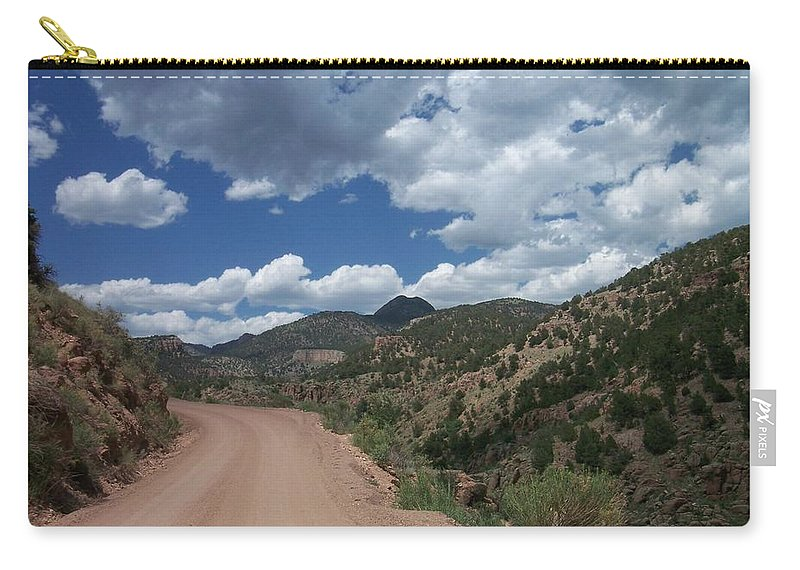 Shelf Road Carry-all Pouch featuring the photograph Shelf Road by Anita Burgermeister