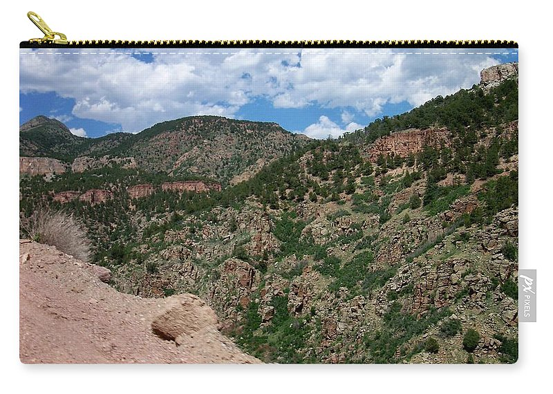Shelf Road Carry-all Pouch featuring the photograph Shelf Road Drop Off by Anita Burgermeister