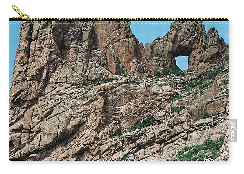 Shelf Road Carry-all Pouch featuring the photograph Shelf Road Rock Formations by Anita Burgermeister