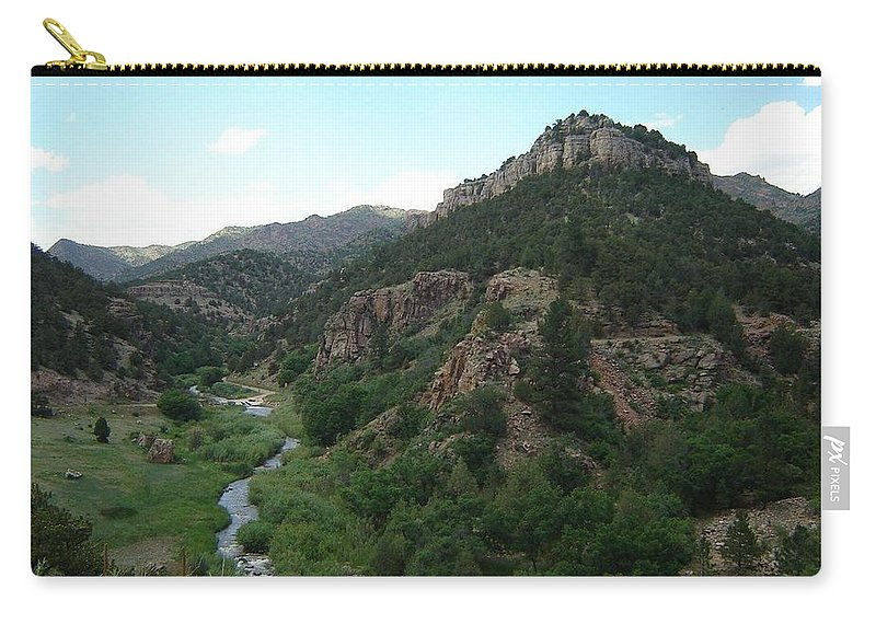Shelf Road Carry-all Pouch featuring the photograph Shelf Road Vista by Anita Burgermeister