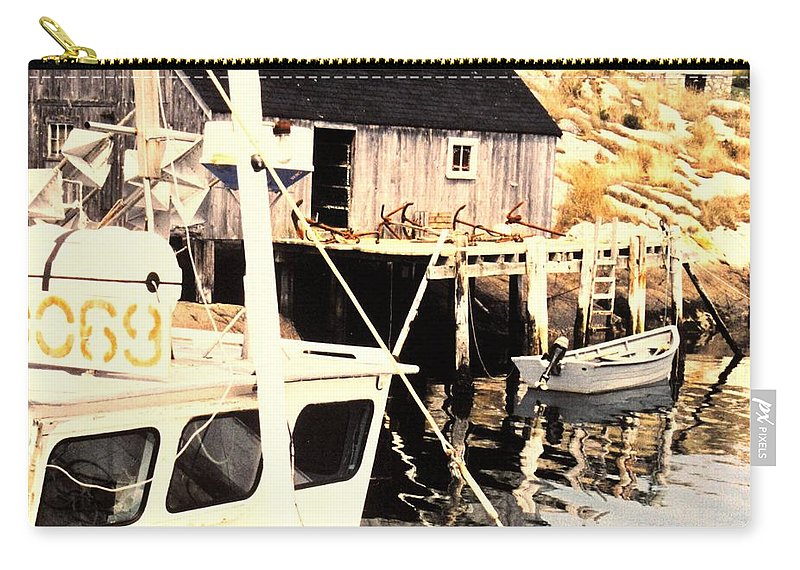 Peggys Cove Carry-all Pouch featuring the photograph Sheltered Port by Ian MacDonald