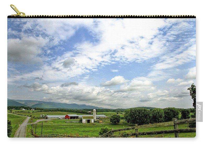 Recent Carry-all Pouch featuring the photograph Shenandoah Valley West Virginia Scenic Series by Geraldine Scull