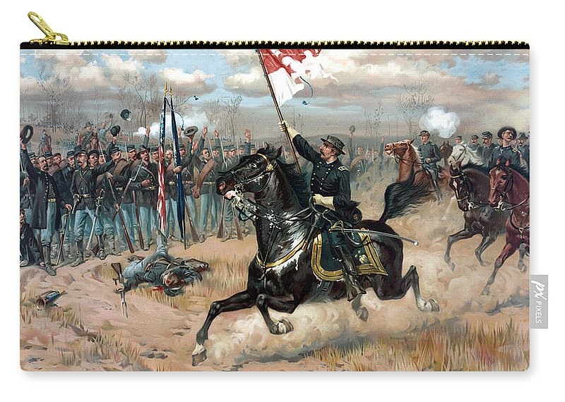 Sheridans Ride Carry-all Pouch featuring the painting Sheridan's Ride by War Is Hell Store