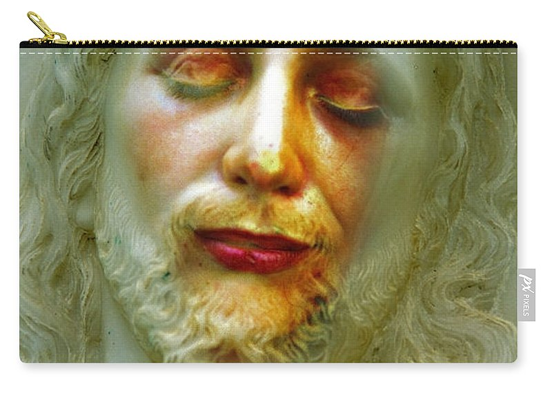 Jesus Carry-all Pouch featuring the photograph Shesus by Skip Hunt