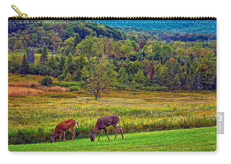 Canaan Valley Carry-all Pouch featuring the photograph Shh... by Steve Harrington