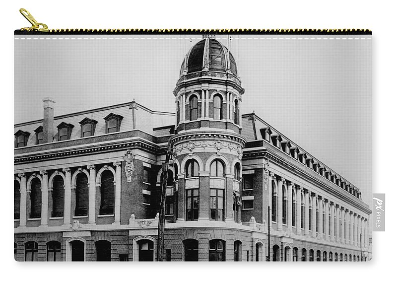 Shibe Carry-all Pouch featuring the photograph Shibe Park 1913 by Bill Cannon