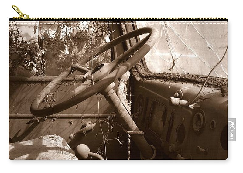 Seen Better Days Carry-all Pouch featuring the photograph Shifting Gears...pennsylvania Ave. Wilkes Barre Pa. by Arthur Miller