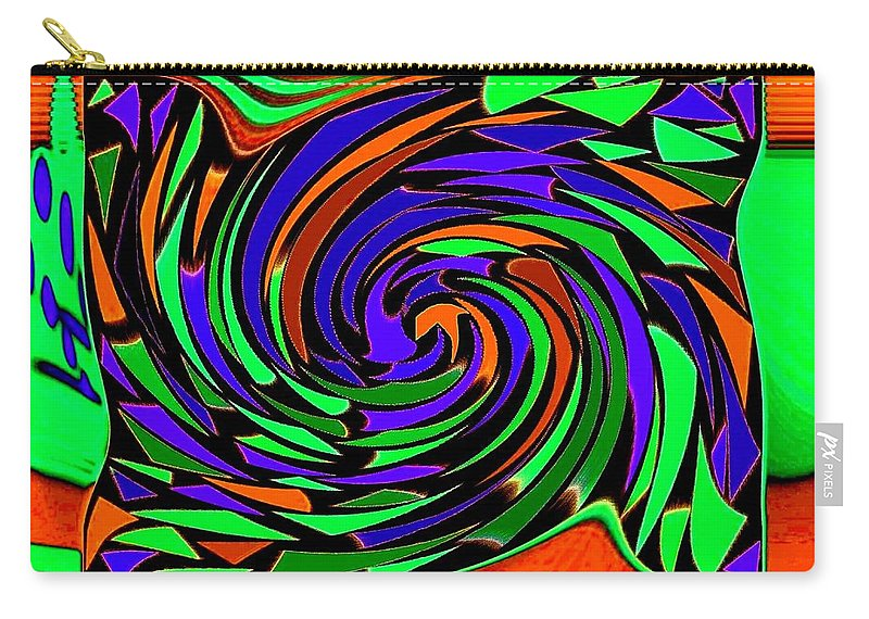 Sahara Carry-all Pouch featuring the digital art Shifting Sands by Will Borden