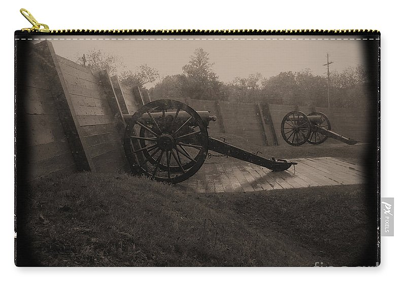 Shilo Carry-all Pouch featuring the photograph Shilo Artillery Battery by Tommy Anderson