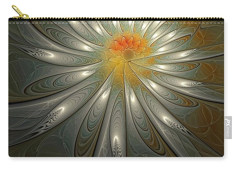 Digital Art Carry-all Pouch featuring the digital art Shimmer by Amanda Moore