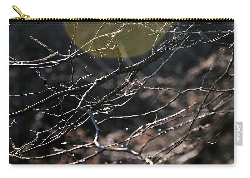 Winter Carry-all Pouch featuring the photograph Shimmering Branches by Kate Sadler