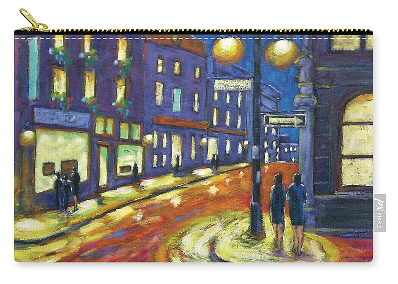 Night Carry-all Pouch featuring the painting Shimmering Night by Richard T Pranke