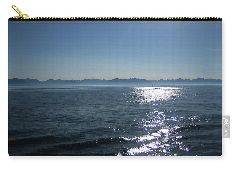 Sea Carry-all Pouch featuring the photograph Shimmering Sea by Lori Tambakis