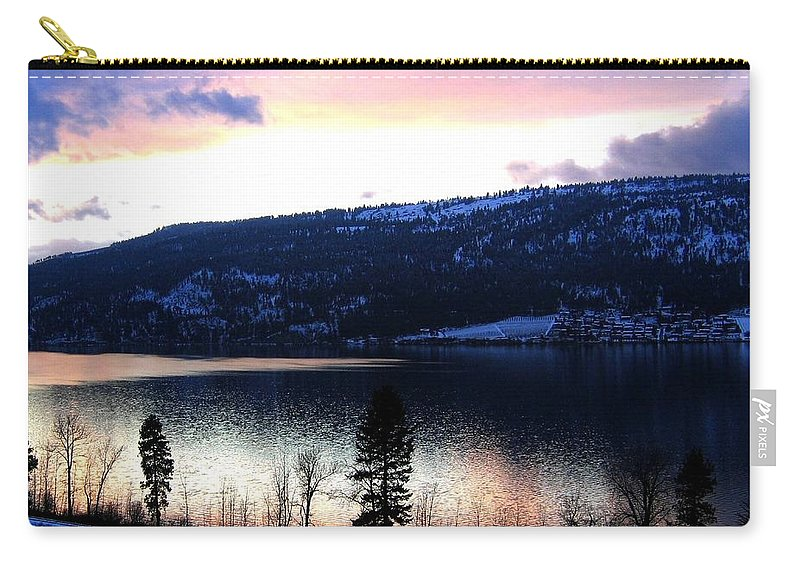 Wood Lake Carry-all Pouch featuring the photograph Shimmering Waters by Will Borden