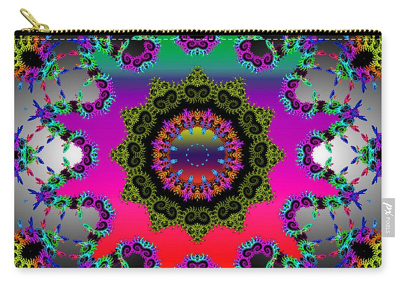Flower Carry-all Pouch featuring the mixed media Shine On by Robert Orinski