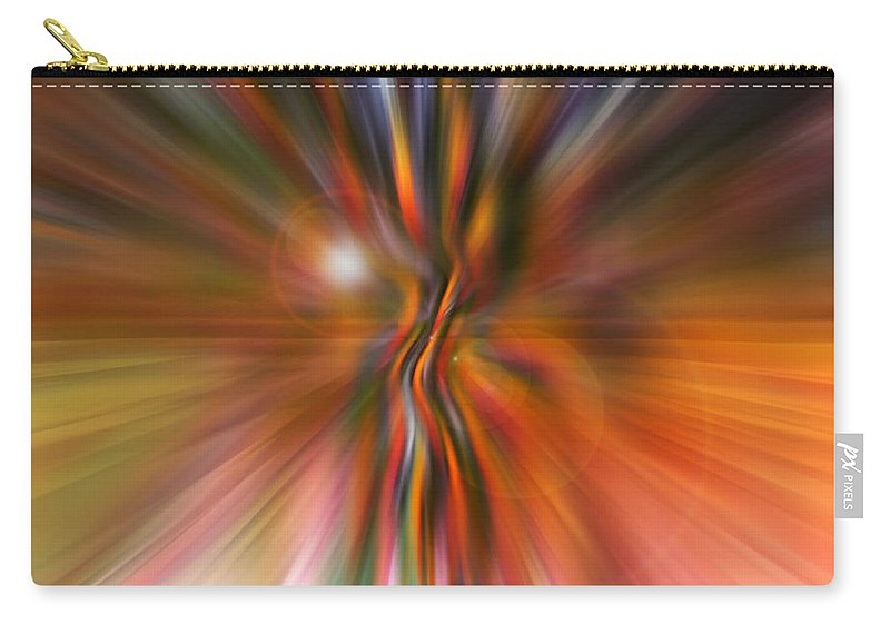 Abstract Art Carry-all Pouch featuring the digital art Shine On by Linda Sannuti